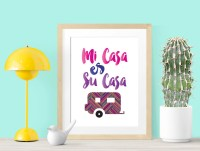 Mi Casa Es Su Casa 8x10 Printable Wall Art INSTANT DOWNLOAD