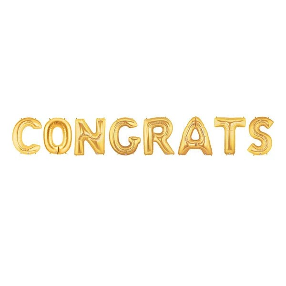 Congrats Letter Balloons Congratulations Balloon Banner Gold - congratulations letter