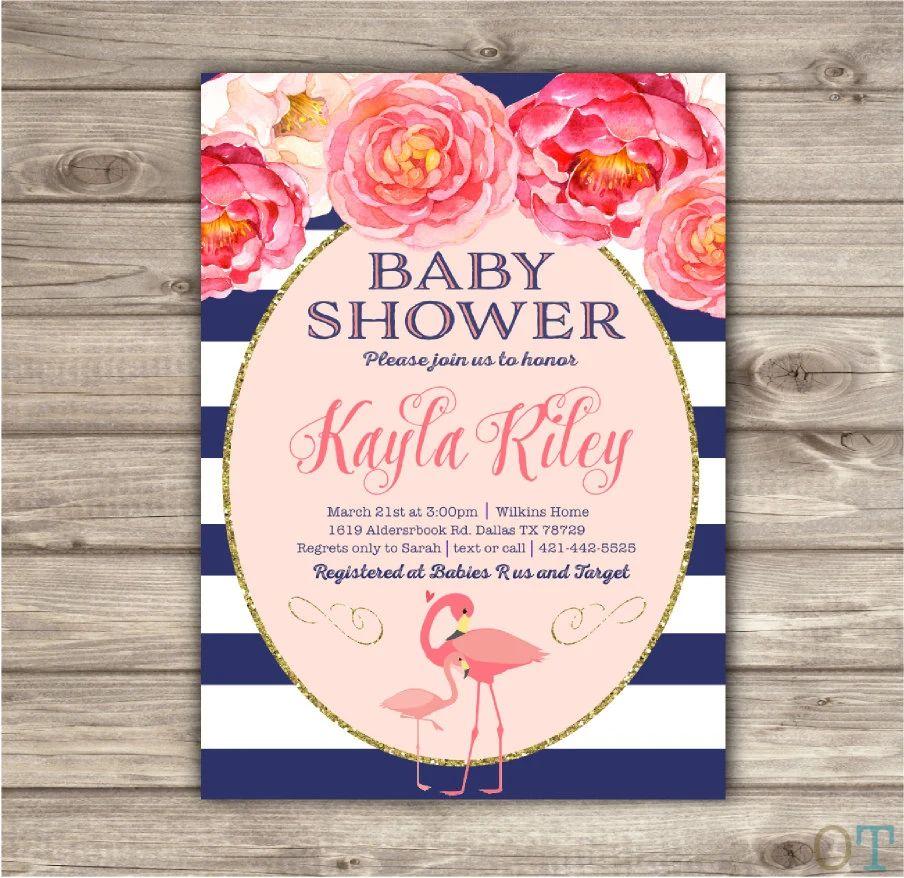 pink invitation template