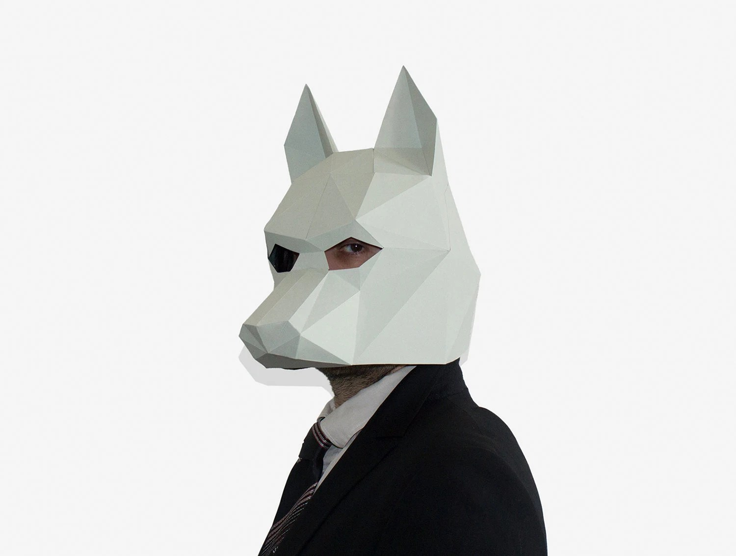 Make your own Wolf Mask, Animal Mask, Printable Mask for New Year