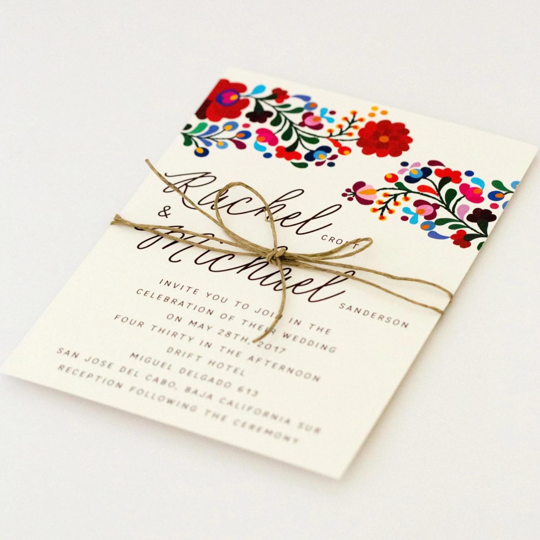 destination wedding invitations colorful mexican wedding invitations zoom