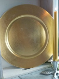 Set of 6 33cm Gold Charger Plates decorative under-plates
