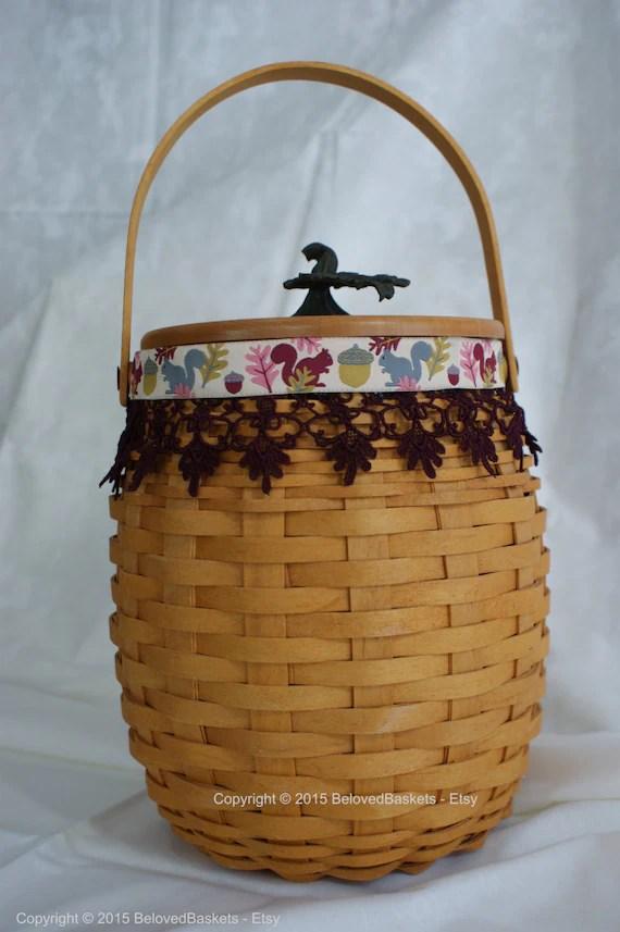Items Similar To Fall Acorn Longaberger Basket On Etsy