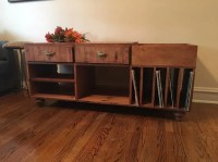 Record Player Console Media Stand