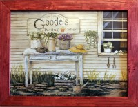 Primitive Country Decor Framed Wall Art by RusticPrimitivesEtc