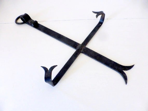 Vintage French Wrought Iron Plate Hanger. SaveEnlarge & Wrought Iron Plate Hanger - Castrophotos