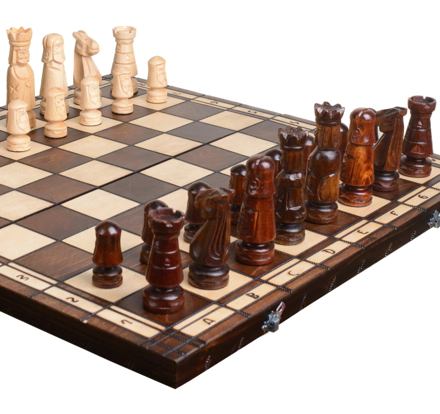 Personalized Chess Set Gift Mens Gift Husband Gift Wooden Chess Board Chess Set Wood