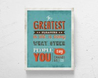 Retro typography / retro art print word art motivational art