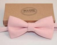 Light pink bow tie | Etsy