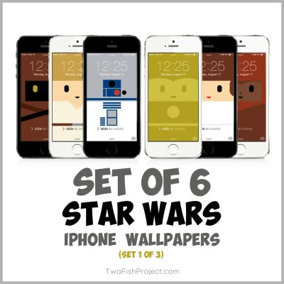 Star Wars iPhone Wallpapers Set 1 of 3: R2-D2 C-3PO Luke