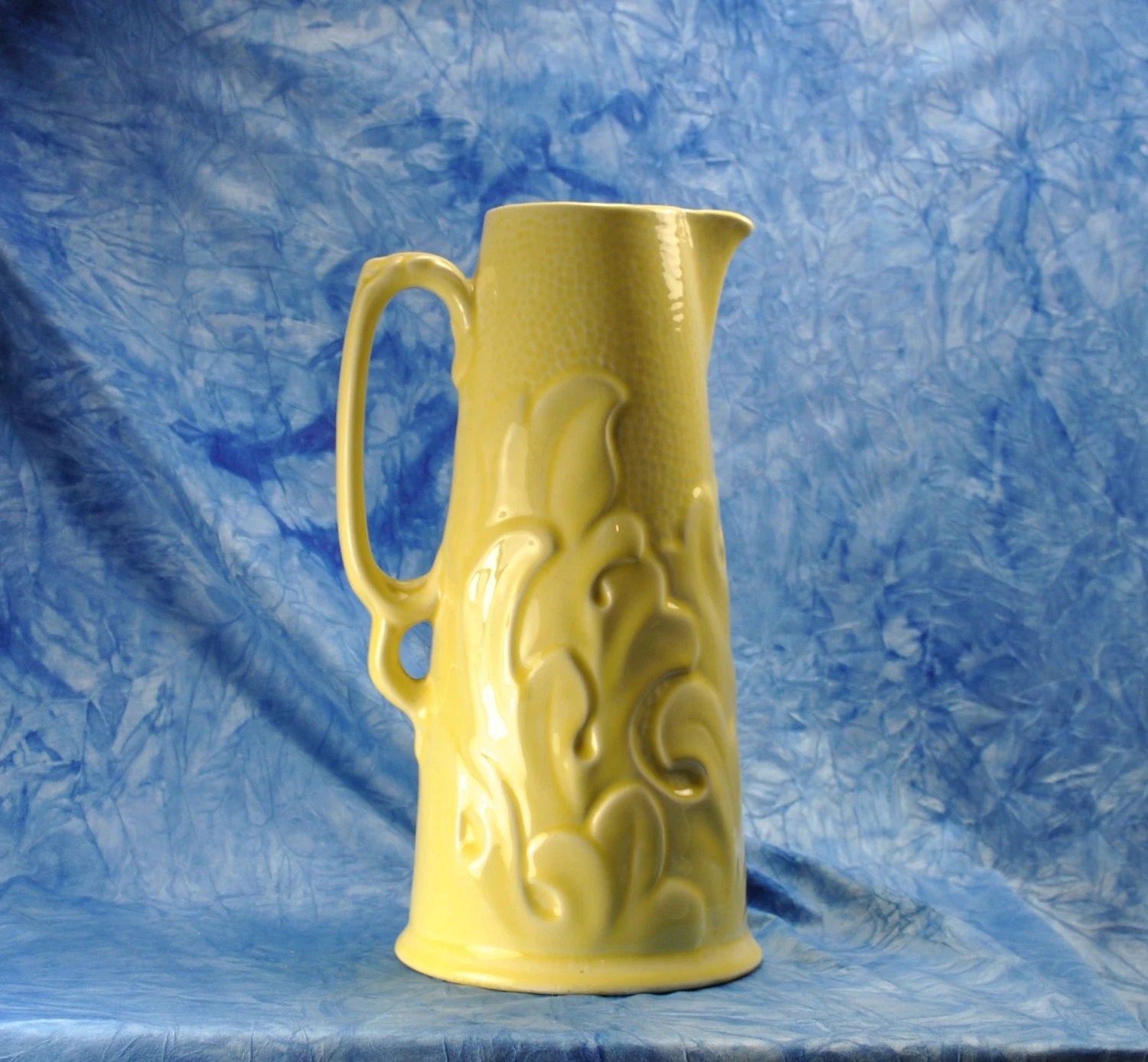 Water Pitcher Ceramic Vintage Sterling Pottery Company Water Pitcher Acanthus