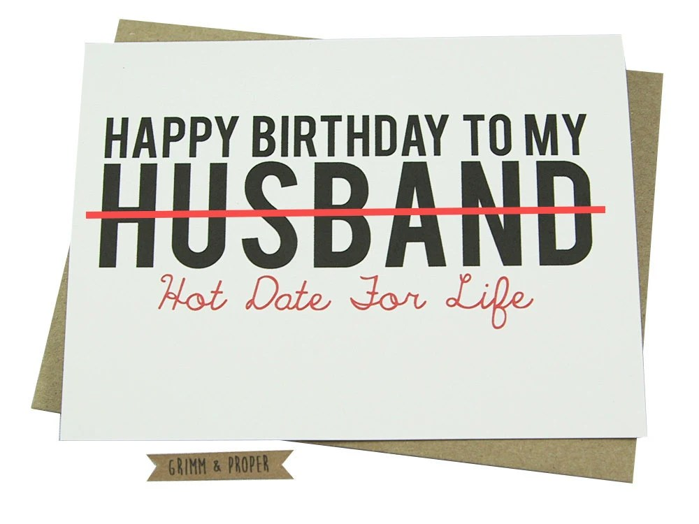 Free Printable Husband Greeting Card - Husband Birthday - christmas list templates