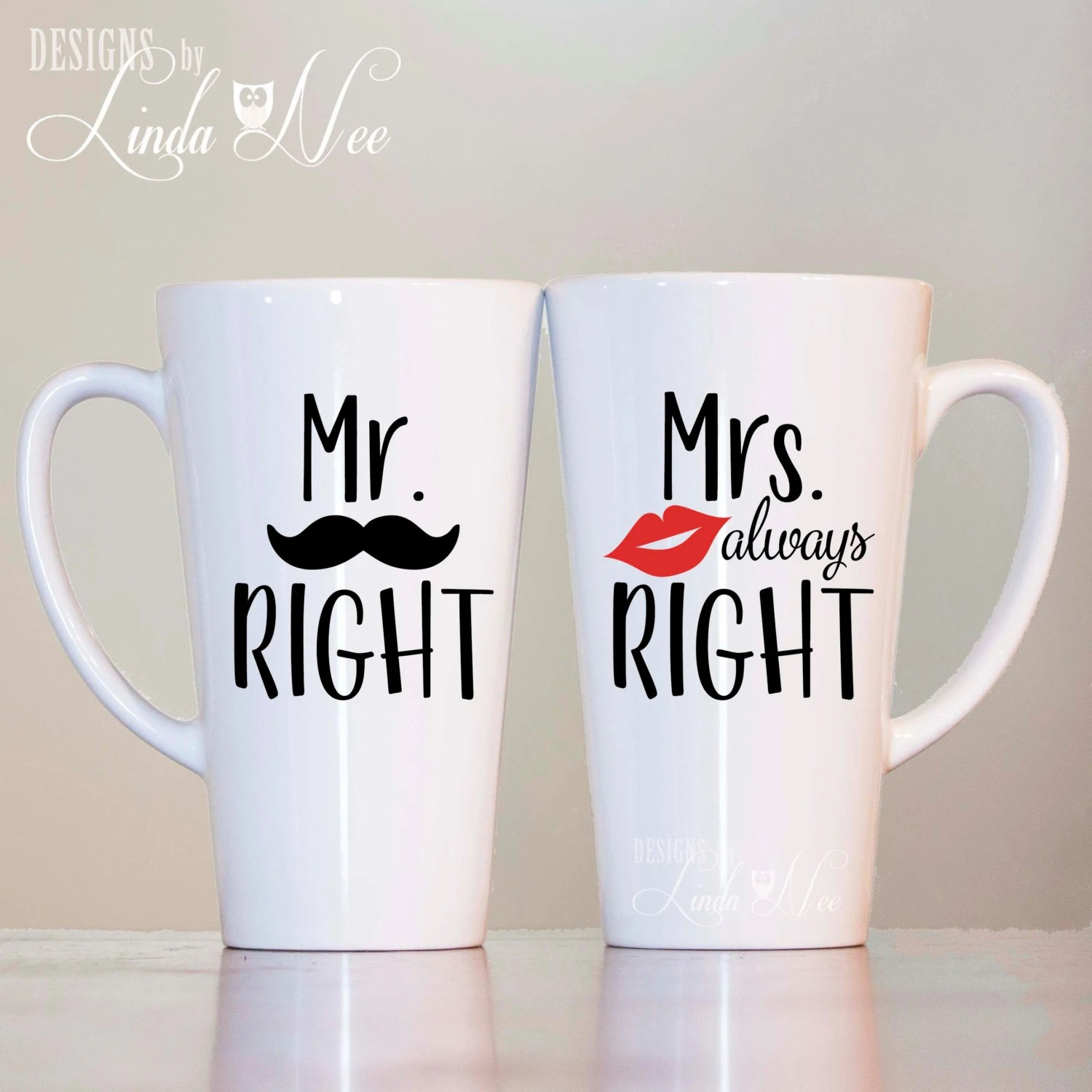 Mr Right Mrs Always Right Bettwäsche Mr Right Or Mrs Always Right Latte Mugs Couples Latte Mugs