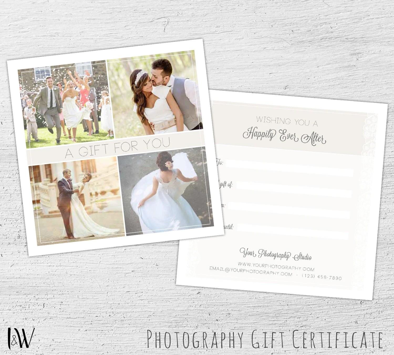 Wedding Gift Card, Wedding Photography, Photography Gift Certificate