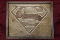 Superman Wooden Inlay Wall Art