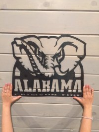 University of Alabama home decor alabama crimson tide metal