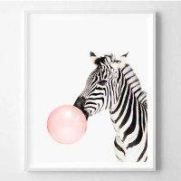Zebra print Nursery animal art Zebra wall art Kids room