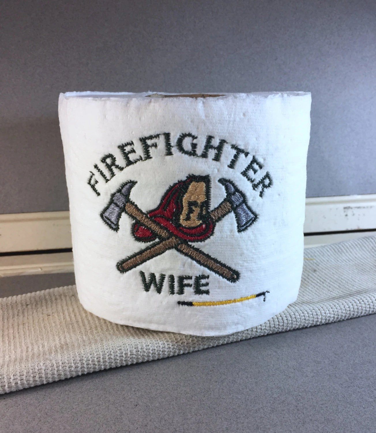 Custom Made Toilet Paper Custom Firefighter Embroidered Toilet Paper Personalized