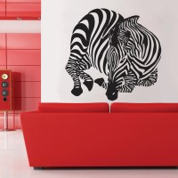 Zebra Wall decal Home Dcor Wall decal Large Zebra Vinyl Wall