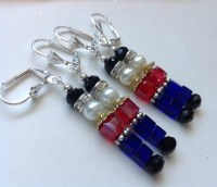 Nutcracker Christmas Earrings Toy Soldier by ChristineJewels5