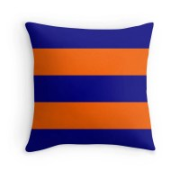 Orange And Blue Decorative Pillows ...