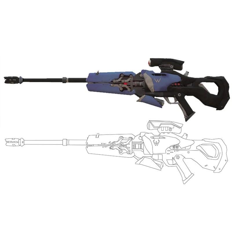 Súng của Widow Maker overwatch Pinterest Widow maker - new blueprint gun art