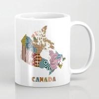 Canada Map Cute Ceramic Mug, Made in Canada, Canada Art ...