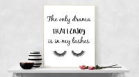 Eyelash Print Glam Lash Poster Makeup Bathroom Poster Makeup