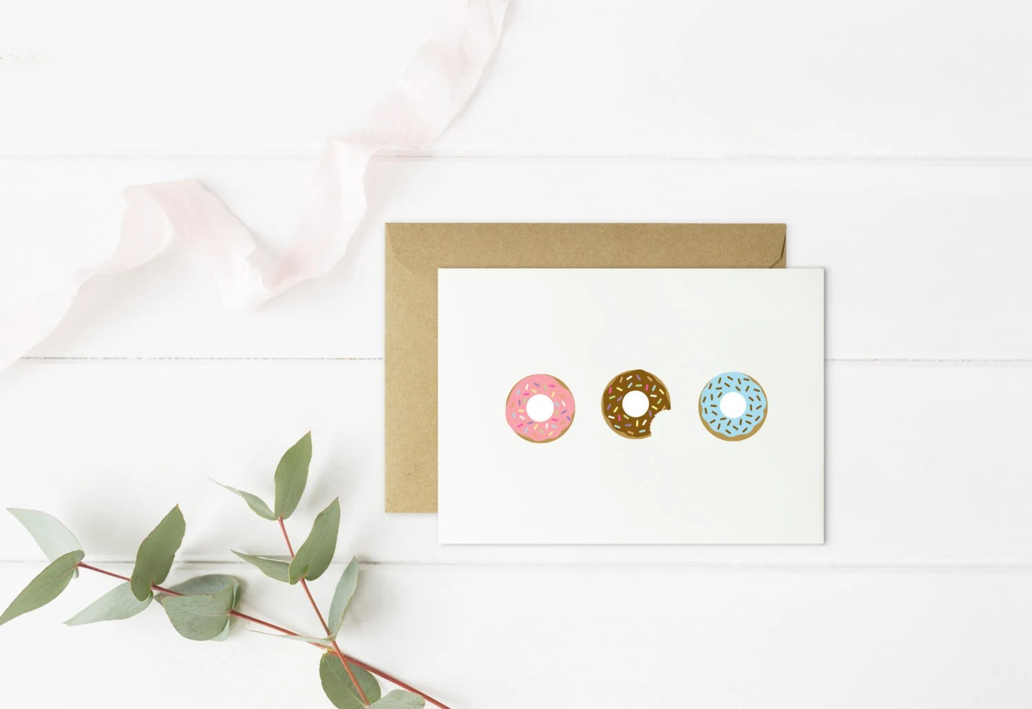 Donuts Cards   Size A2   Donuts with Sprinkles   Doughnuts Card