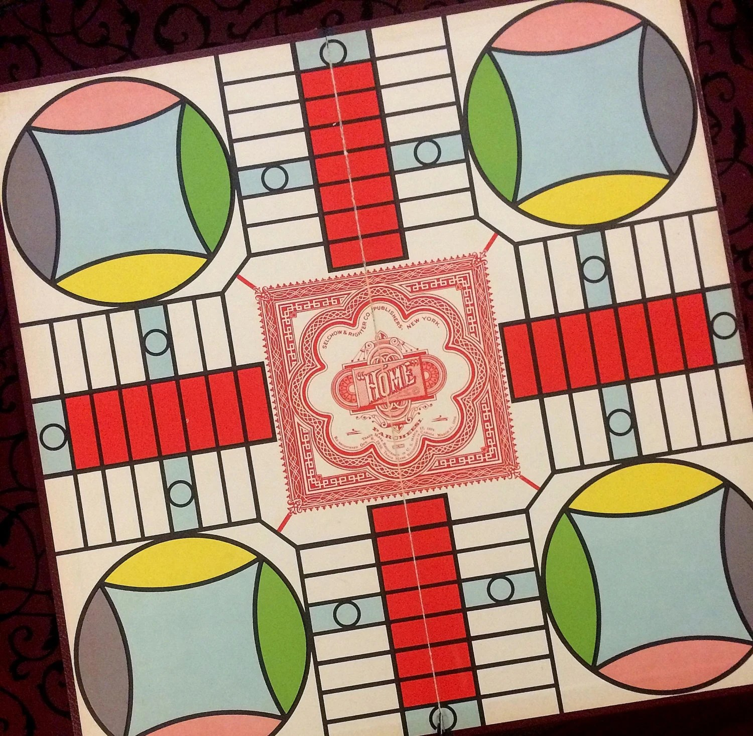 Decorative Game Boards Decorative Vintage Game Board Colorful Graphics Mid Century