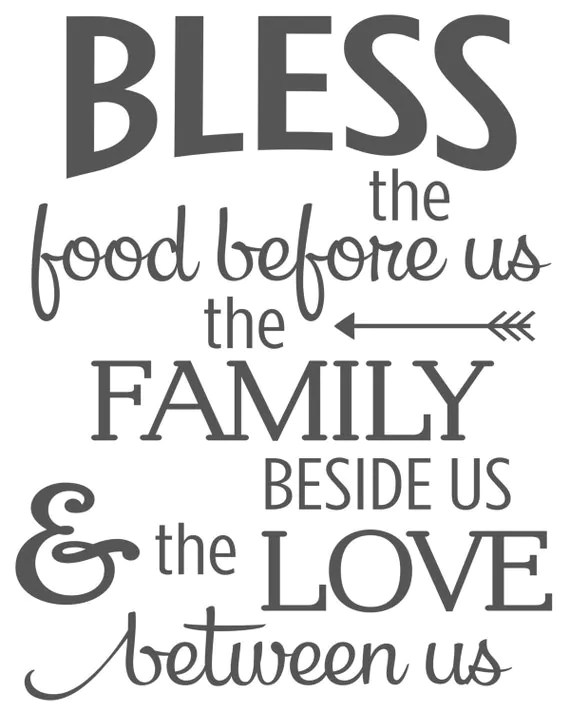 photograph about Bless the Food Before Us Printable identified as Bless The Foods Just before Us The Relatives Beside Us And The Via