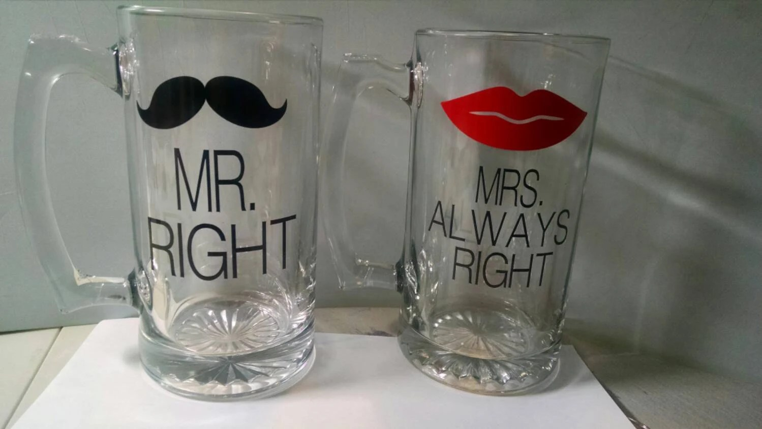 Mr Right Mrs Always Right Bettwäsche Mr Right And Mrs Always Right Beer Glass Set