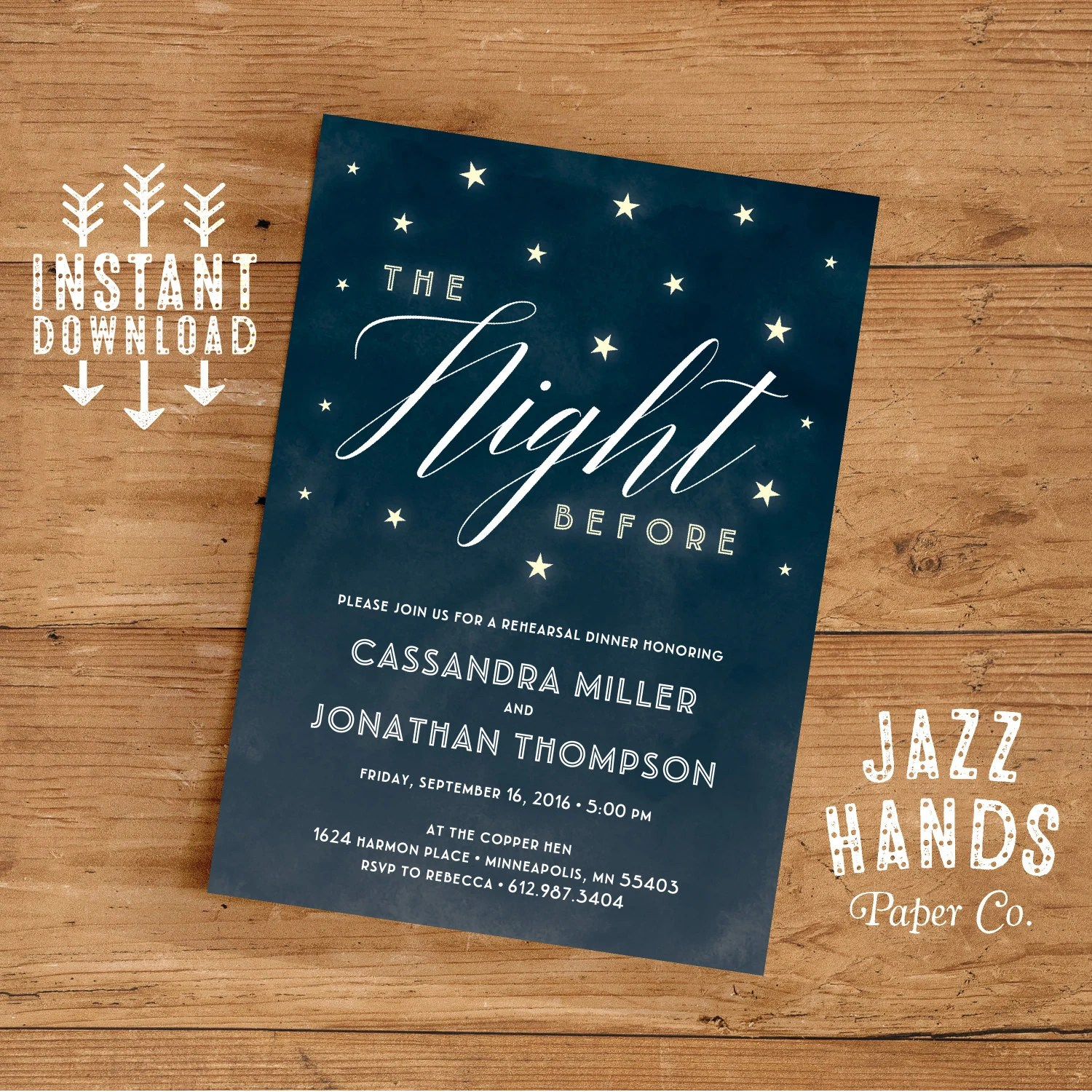 Rehearsal Dinner Invitation Template DIY Wedding Rehearsal - dinner invitation template