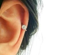 CZ Simple cartilage hoop silver cartilage hoop Tragus