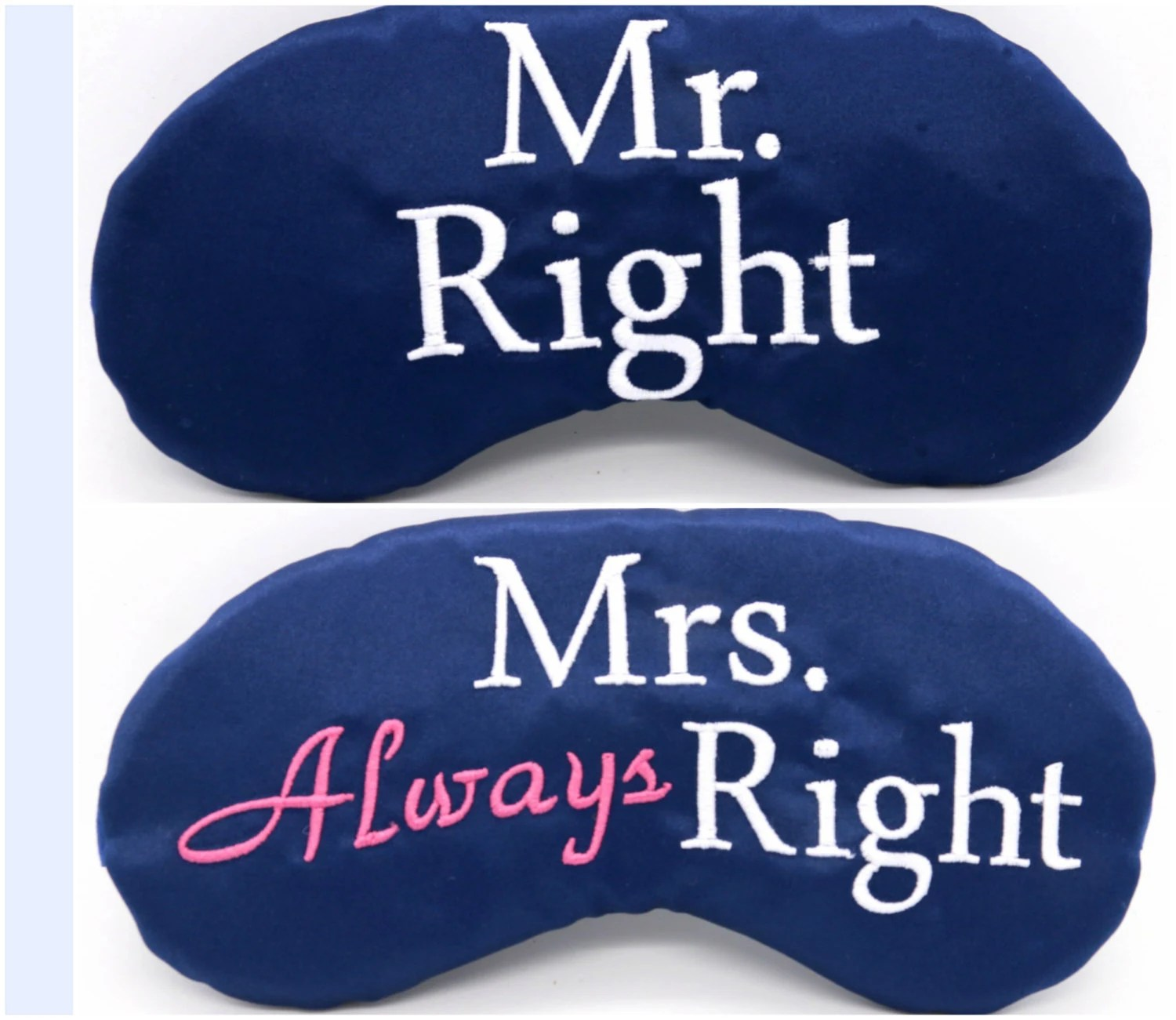 Mr Right Mrs Always Right Bettwäsche Mr Right And Mrs Always Right Sleep Masks His And Hers