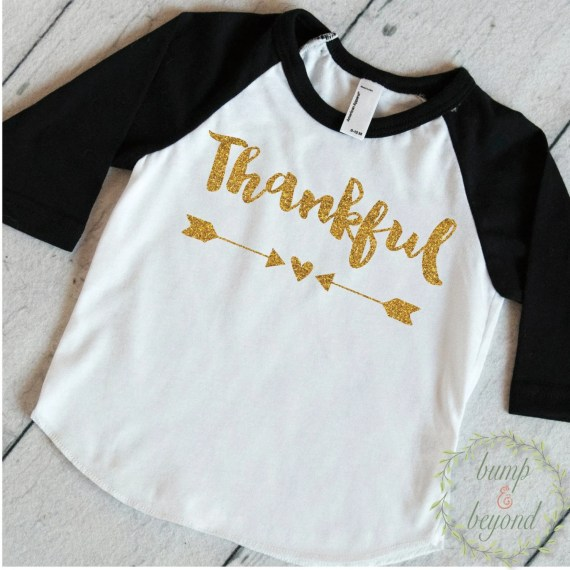 Kids Thanksgiving Shirt Toddler Girl Thanksgiving Outfit Thankful Shirt Thanksgiving Clothes for Kids Children's Thanksgiving Shirt 009