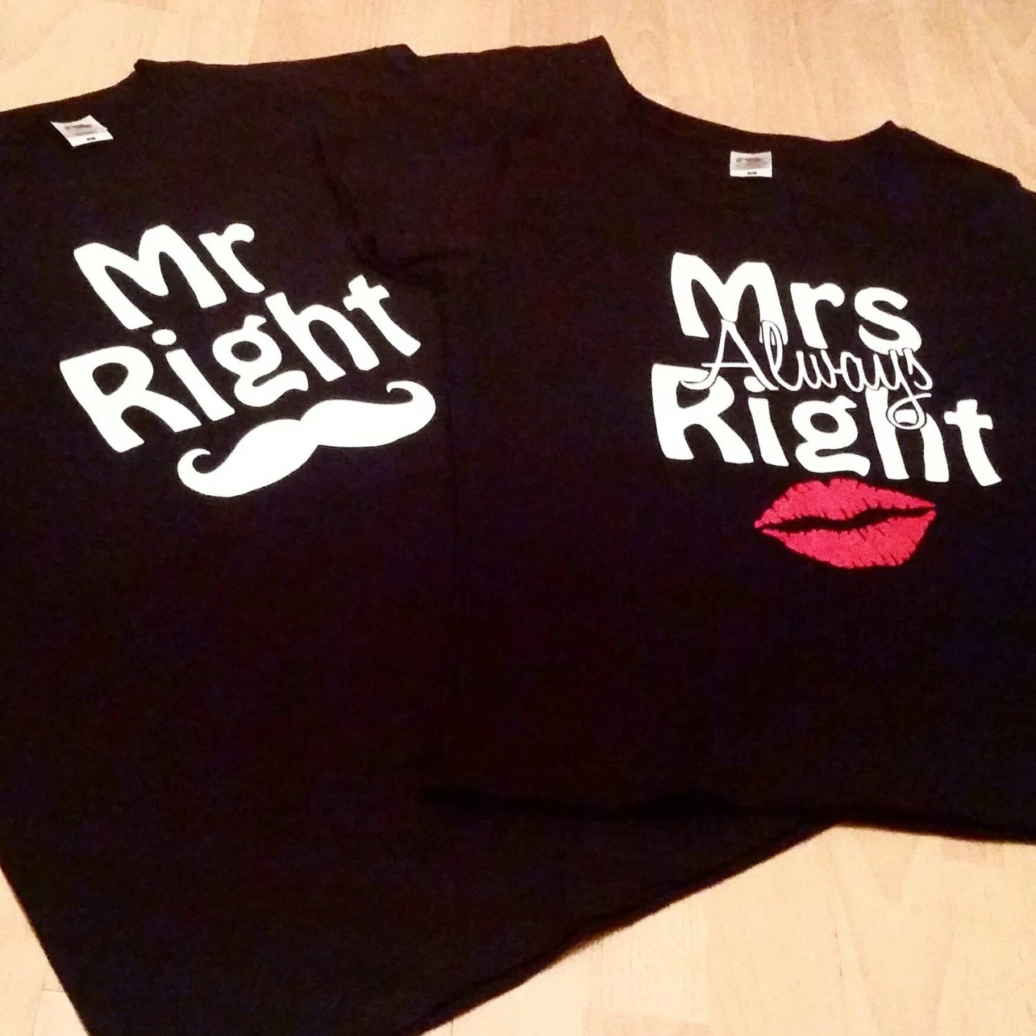Mr Right Mrs Always Right Bettwäsche Valentines Couple Outfit Mr Right T Shirt Mrs Always Right