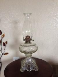 Vintage Princess Feather Oil Lamp Antique Oil Lamp Antique