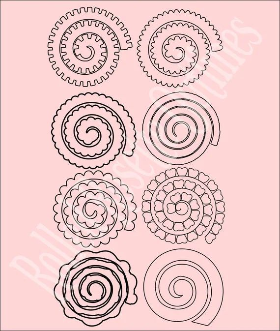 rolled paper flower template