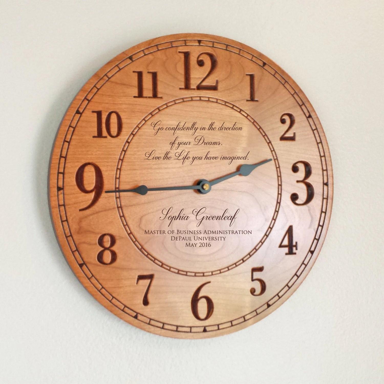 Personalized Graduation Wood Wall Clock: by LifetimeCreations