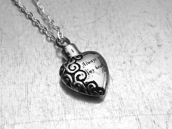 Cremation Necklace Heart Urn Urn Locket Ashes Holder