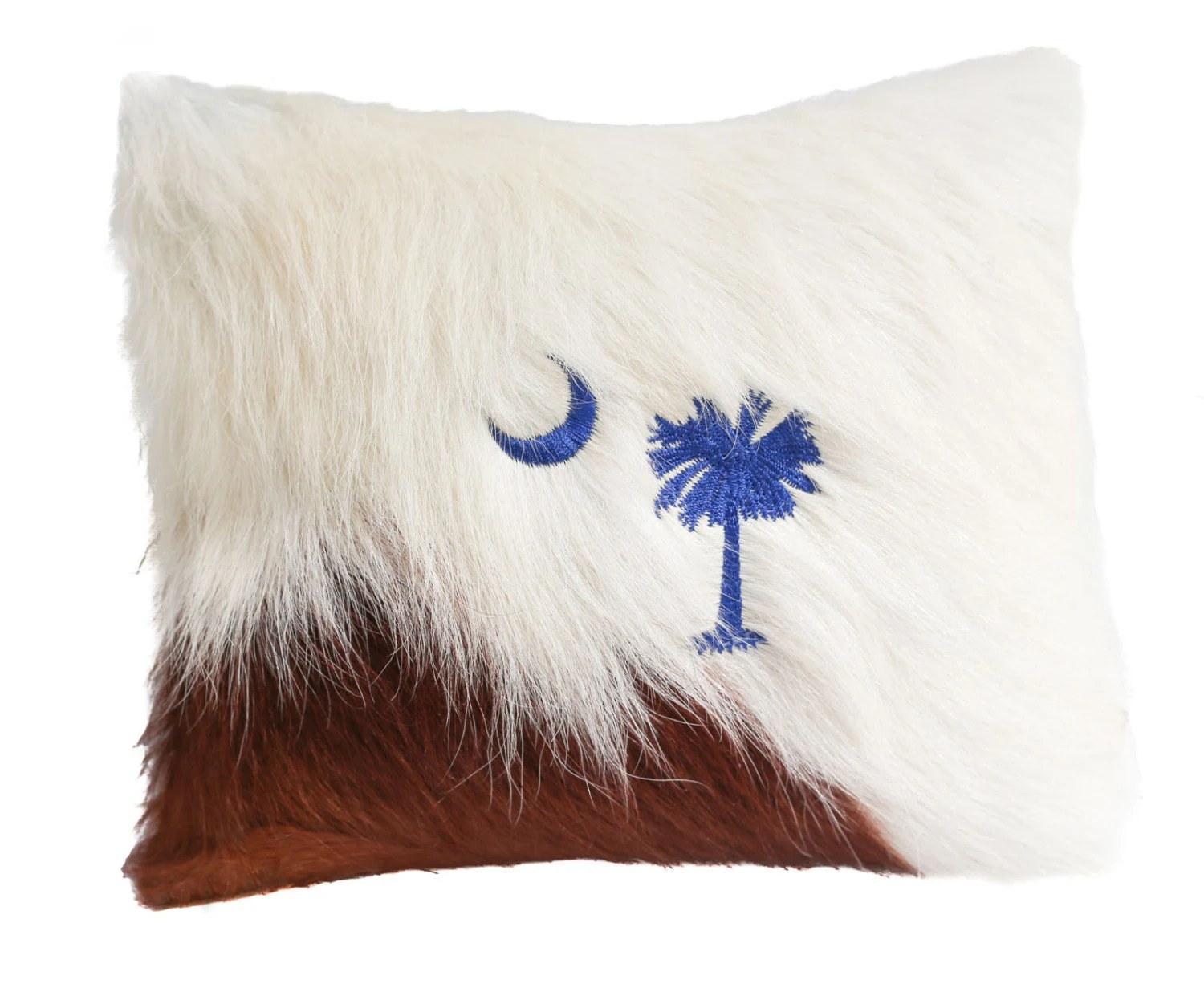 Cowhide Pillow Cow Hide Fur Hair On Hide Leather Palmetto