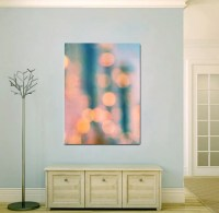 Large abstract art turquoise teal peach modern by ...