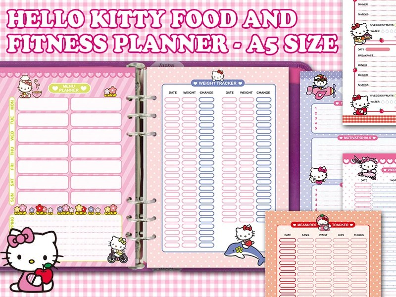 Printable Health And Fitness Planners And Printable Planner Stickers
