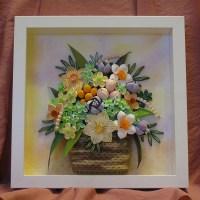 Original Paper Quilling Wall Art The Summer Basket