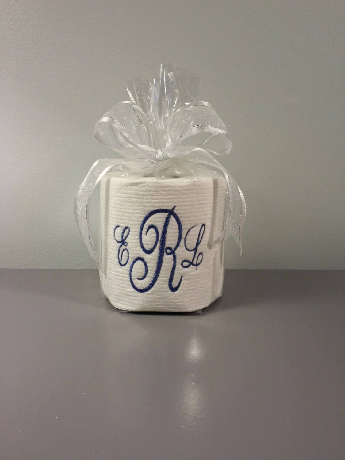 Custom Made Toilet Paper Custom Embroidered Toilet Paper Custom Monogram Toilet Paper