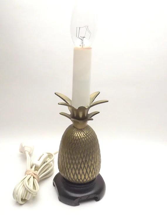 Brass Pineapple Lamp Candlestick Lamp Vintage Light Small