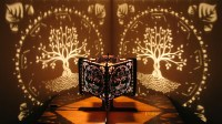 Decorative Ambient Lasercut Wooden Tree of Life Shadow Lamp