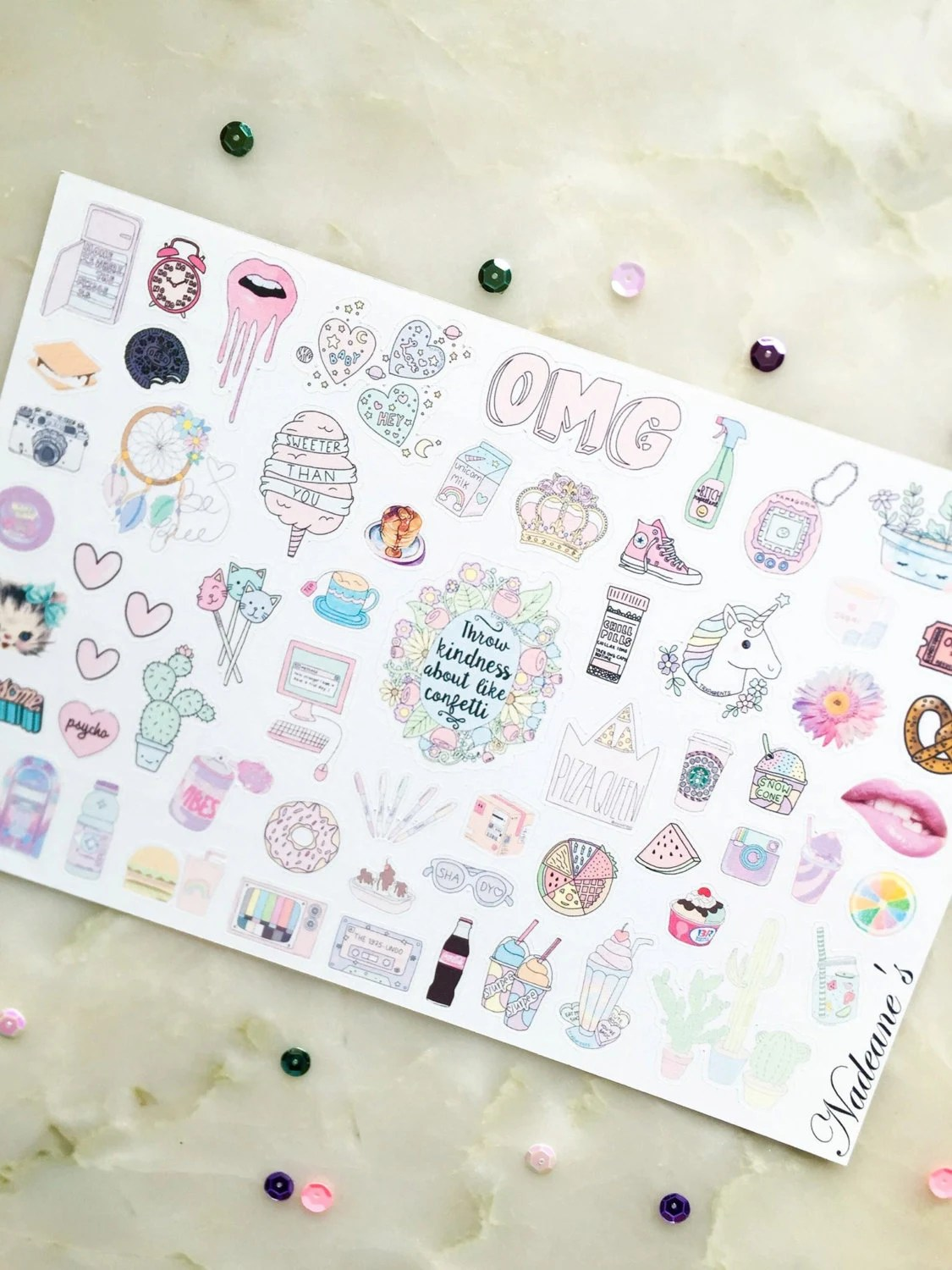 Tumblr Sticker Pastel Kawaii Pastel Stickers Tumblr Stickers Planner By Nadeanes