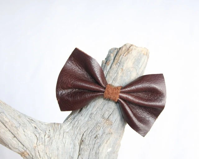 Leather Hair Tie Ponytail Holder Hair Band By